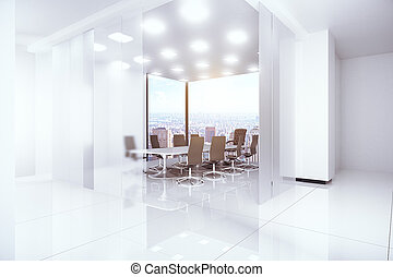 Modern boardroom - Modern bright boardroom with panoramic...