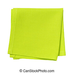 green place mat - folded green cloth place mat