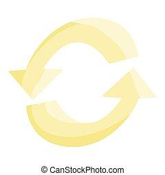 Refresh arrows icon, cartoon style - Refresh arrows icon....