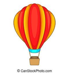icono, globo, estilo, caricatura, redondo