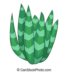 Spotted agave icon, cartoon style - Spotted agave icon....