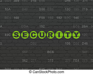 Privacy concept: Security on wall background - Privacy...