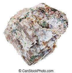 espécime,  delhayelite, isolado, rocha