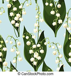 Seamless lily of the valley - Lily of the valley vector...