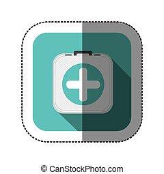 symbol hospital suitcase icon
