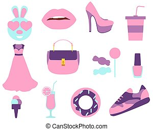 Set stickers Beauty and Fashion