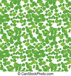 Seamless vector clover background for St. Patricks Day