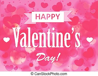 Valentines Day Card - Vector Illustration of a Valentines...