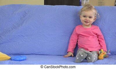Child dream came true concept. Static closeup shot.