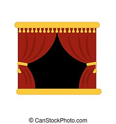 Theater stage curtains