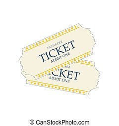 Movie ticket illustration - Movie ticket on the white...