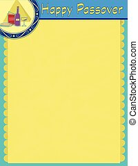 Passover Blank Sign - Decorative Happy Passover blank sign....