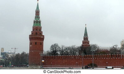 Kremlin in winter snow