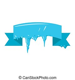 Collection of frozen icicle snow winter vector banner....