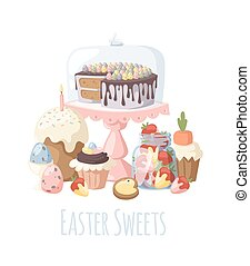 Easter holiday vector illustration - Easter holiday...