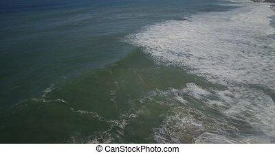 Aerial, Flight Above Praia De Cavaleiro Coast Line, Portugal