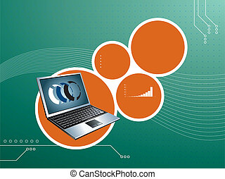 laptop on abstract background - abstract background vector...