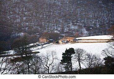 Rural farm in winter