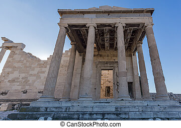Ancient Greek temple The Erechtheion on the north side of...