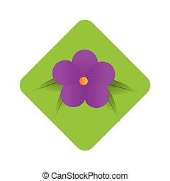 diamond border with purple flower design with leaves