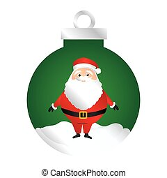 color silhouette of garland with santa claus vector...