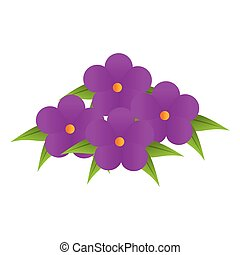 purple flowers bouquet floral design with leaves
