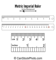 Metric Imperial Rulers Vector. Centimeter And Inch. Measure...