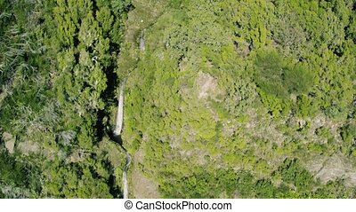 Aerial View Waterfall on Mountains