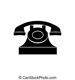 Vintage telephone device icon vector illustration graphic...