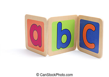 ABC Pieces on White Background