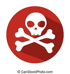 danger skull symbol icon