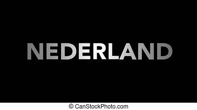 Zooming text Nederland with flag - Zooming in on text...