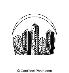 city buildings symbol icon vector illustration graphic...