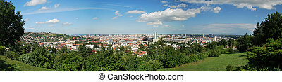 Bratislava City - Panorama of Bratislava the capital city of...