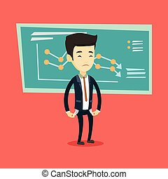 Bancrupt business man vector illustration. - Bankrupt...