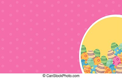 Collection of easter greeting card