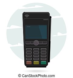 Pos terminal in flat style. Pos payment. Illustration pos...