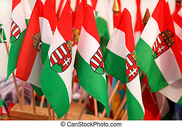 Hungarian flags - Lots of hungarian flags with the countrys...