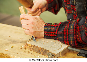 Wood carving - Popular art: wood carving by hand
