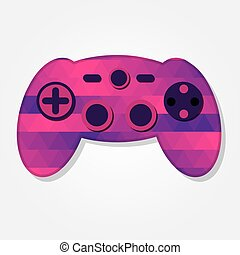 Gamepad with colorful triangles - Gamepad with a colored...