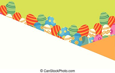 Illustration of Easter greeting card style