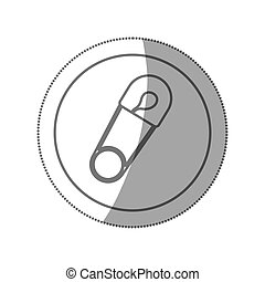 baby diaper fastener clothes closed icon, vector...