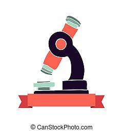microscope icon stock image, vector illustration design