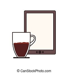 coffee espresso technology communication icon