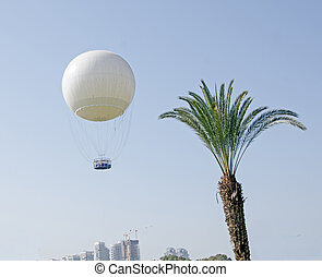 Air ballon at Tel aviv as a tourist attraction