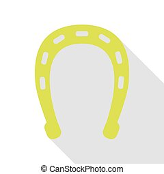 Horseshoe sign illustration. Pear icon with flat style shadow path.