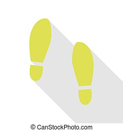 Imprint soles shoes sign. Pear icon with flat style shadow...