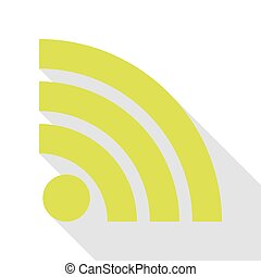 RSS sign illustration. Pear icon with flat style shadow path.