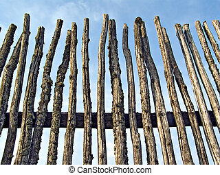 old rustic fence