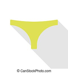 Womens panties sign. Pear icon with flat style shadow path.